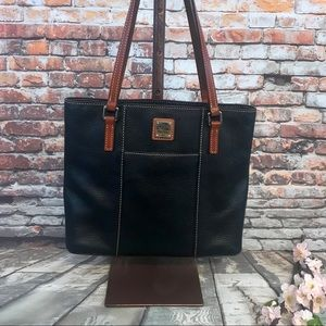 Dooney & Bourke Black Pebble Leather Tote Bag